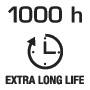Длительный срок службы 1000 часов