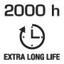 Длительный срок службы 2000 часов