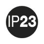 IP 23: защита от проникновения посторонних предметов диаметром ≥ 12,5 мм; защита от водяной пыли.
